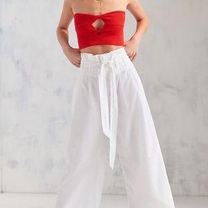 Perfect cute summer stylish white wide leg pants